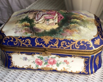 Rare Royal Vienna Dresser Box Signed R Coulory
