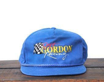 Vintage 90's Jeff Gordon Nascar Racing 24 Trucker Hat Snapback Baseball Cap