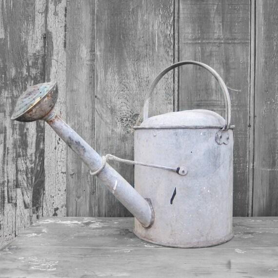 Metal Watering Can 1950s Garden Planter Display