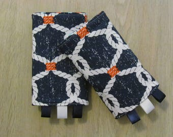 READY to SHIP: Ahoi Knots Nautical Ropes Strap Protectors for Tula, Ergo, Lillebaby and More!