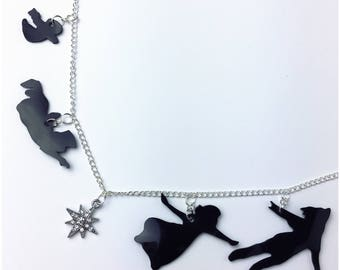 Peter Pan Silhouette Necklace