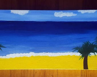Long Canvas Beach Painting