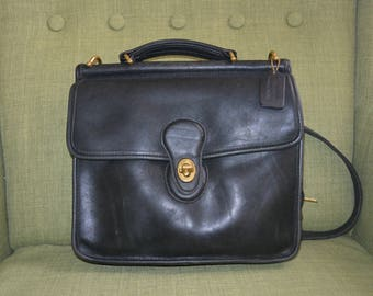 Vintage Coach Willis Bag in Black