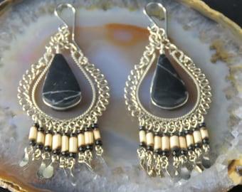 Peruvian Onyx Earrings