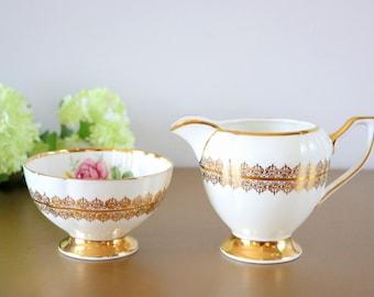 Cream And Sugar Set, Sugar Bowl And Creamer Set, English Milk Jug And Sugar Bowl, Clare Fine Bone China, Vintage Creamer And Sugar Set