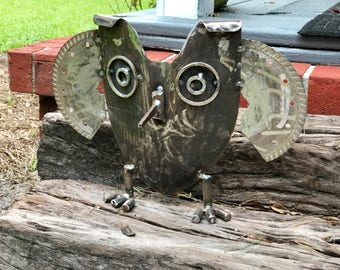 Owl Recycled Garden /Porch sculpture
