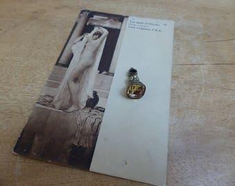 Antique Victorian Gold Foiled  Citrine Intaglio Seal Fob Pendant
