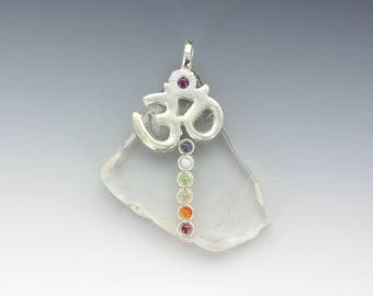 Chakra Crystal Quartz Necklace & Meditation Pendant Balancing Intuition Spiritual Energies Yoga Reiki Meditation