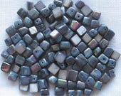 100 Pc Gray Blue Shell Beads Cube Approx 6mm | Gray Beads | Shell Beads | 6mm Beads | Beads for Jewelry Making | Jewelry Beads | Craft Beads