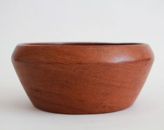 Bowl, made of teakwood, vintage, 60er, denmark