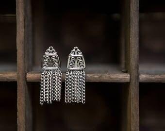 Vintage Art Nouveau clip on earrings