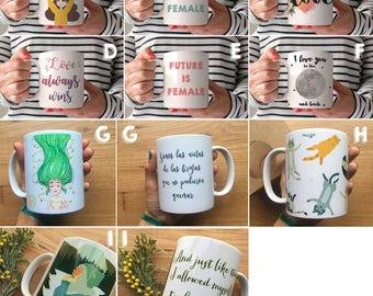 Illustrated mugs