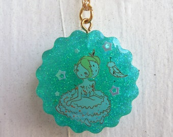 Teal Ballerina Necklace
