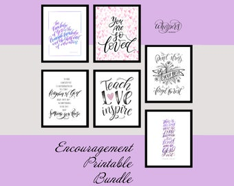 Encouragement Printable Bundle, Christian Parenting, Christian wall art, Christian gifts, Homeschool decor