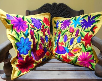 C46 2 Guatemalan Huipil Pillow Covers  from Chichicastenango