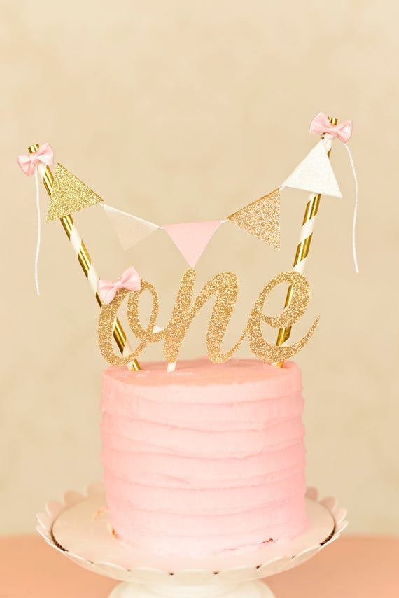 One Cake Topper, First birthday cake topper, ONE Smash Cake Set ...