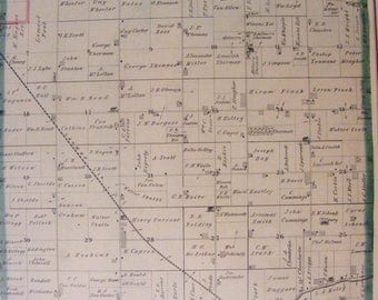 51% OFF 1873 Rock County Wisconsin WI La Prairie Township Original Hand Colored Plat Map
