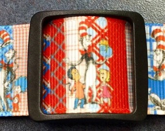 "Dog Collar ""  * Seuss    * 1"" adjustable buckle or martingale"