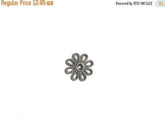 HALF PRICE 10 Silver Flower Connector Charms