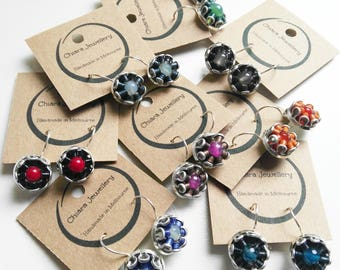 Nespresso coffee pod drop earrings, recycled, upcycled, ecofriendly