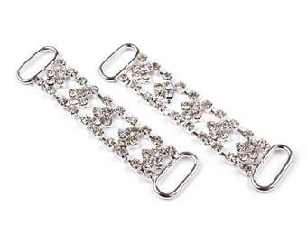 1 hair clip rhinestone clasp