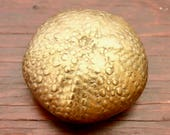 Vintage Brass Sea Urchin Nautical Shell Paper Weight Trinket
