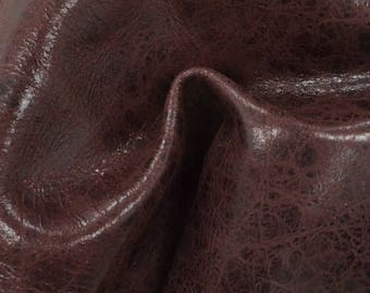 "Sweet Black Cherry Leather New Zealand Deer Hide 8"" x 10"" Pre-Cut 2 ounces TA-56412 (Sec. 4,Shelf 6,C)"