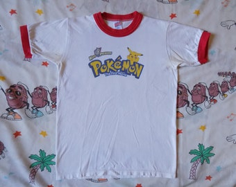 Vintage 90's Pokemon The First Movie Ringer T shirt, size S/XS anime cartoon Pikachu
