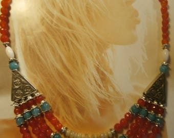 "Necklace ""Wild Girl"" Bohemian chic, Tribal, money"
