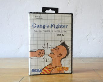 Gang's Fighter, Sega Game, Sega Master System, Video Game Catridge, Sega Catridge, Video Gamer Gift, Video Game, Sega Console, Console Game,
