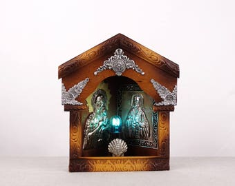Religious Night Light, Religious Lighting, Bedside Lighting, Lighting Fixture, Religious Icon, Religious Wall Hanging, Catholic Lighting