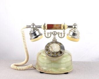 Rotary Phone, Marble Phone, Old Telephone, Desk Phone, Onyx Phone, Landline Phone, Rotary Telephone, Office Telephone, Dial Phone, Telephone