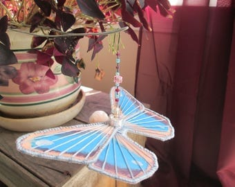Butterfly Ornament - Housewarming Gift - Birthday Gift- Pink and Blue