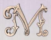 Letter M Wood Wall Art Wo...
