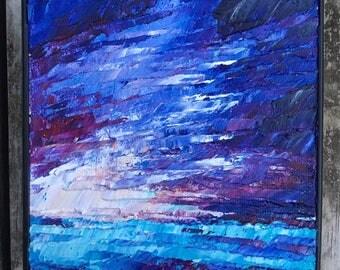 Stormy Waters #2 - Mini Impasto Landscape