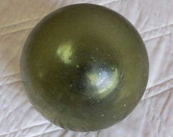 Antique Green Glass Japanese Fishing Float