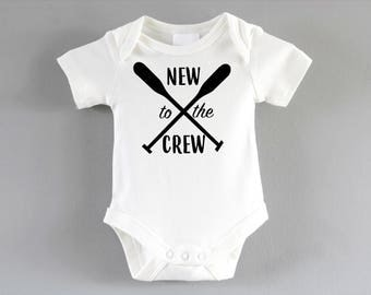 New to the Crew Onesie ~ New baby unisex gift ~ pregnancy announcement party ~ baby shower gift ~ baby onesie~ new parent gift