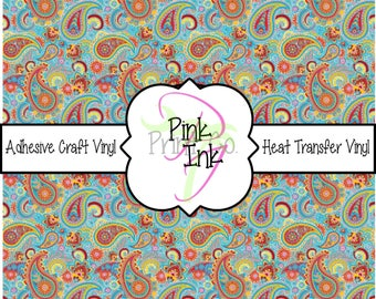 Beautiful Paisley Craft Vinyl and Heat Transfer Vinyl Pattern 422