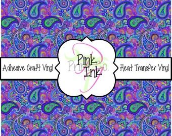 Paisley Vinyl Sheets // Beautiful Patterned Vinyl Sheets and Heat Transfer Vinyl Sheets in Pattern 490