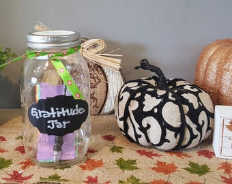 Gratitude Jar, Mason Jar, Flowers, thank you gift, friendship gift, hostess gift, celebration, fun, family fun, sharing gift, white elephant