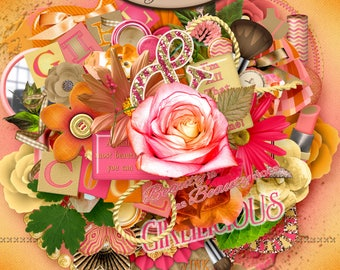 Digital Scrapbook, Elements: Girlilicious