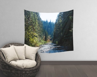 Tree Wall Tapestry | Photo Wall Tapestry | Tapestry Wall Hanging | Nature Wall Tapestry | Forest Bedroom Decor | Forest Wall Hanging