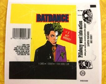 Batdance wax pack print
