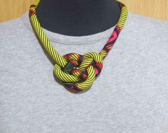 African Print Ankara Bib Necklace _ Handmade African Prints Fabric Necklace _ Collier en Tissu Africain