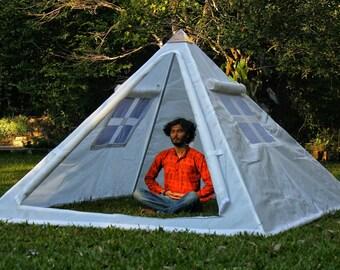 Giza Aluminium Meditation Pyramid 8 feet Heavy duty with tent