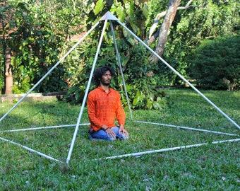 Giza Aluminium Meditation Pyramid 8 feet Heavy duty