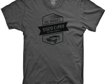 Doc Brown's Used Cars Tshirt Funny graphic movie shirts retro tshirts 90's movies funny classic tshirts