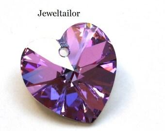2 Swarovski Crystal 6228 Vitrail Light Heart Beads 10 or 18mm ~ Sparkly Jewellery Making
