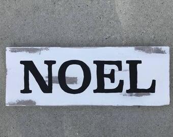 """Handcrafted Vintage Wooden """"Noel"""" Sign"""