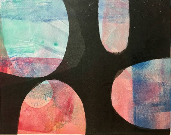 Abstract Monotype Print: Moorish Series #2